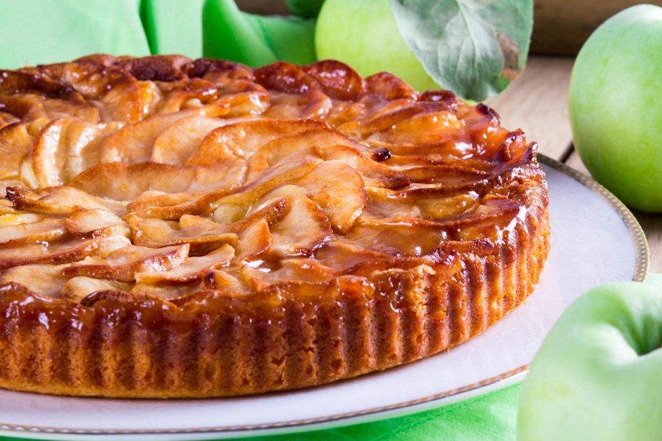 Яблочный творожный пирог рецепт