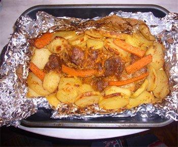 Мясо с картошкой в фольге в мультиварке рецепты с фото